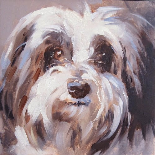 """BRUNO #2     -  6x 6 Oil"" original fine art by Helen Cooper"