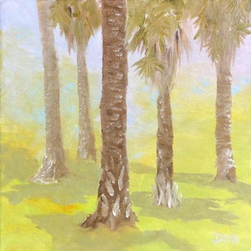 """Chinese Fan Palms"" original fine art by Dalan Wells"