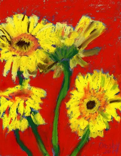 """Daisy Almost Undone"" original fine art by Donna Crosby"