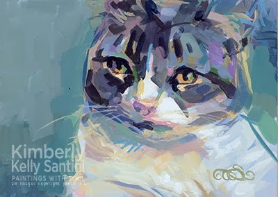 """Rosie and Abby"" original fine art by Kimberly Santini"