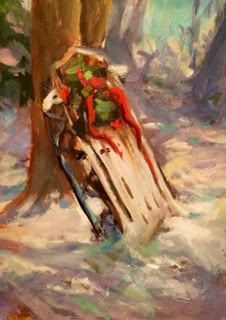 """SLEIGH"" original fine art by Doug Carter"