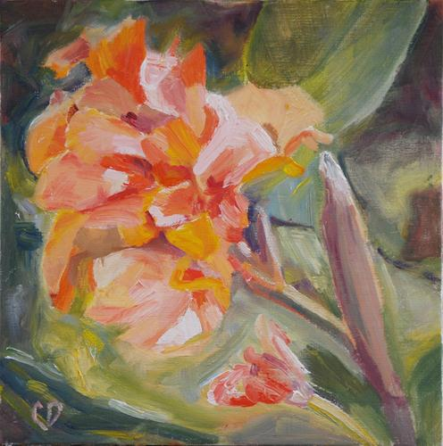 """Impressionistic Canna Study #2"" original fine art by Carol DeMumbrum"