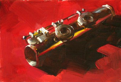 """Flute Study --- Sold"" original fine art by Qiang Huang"