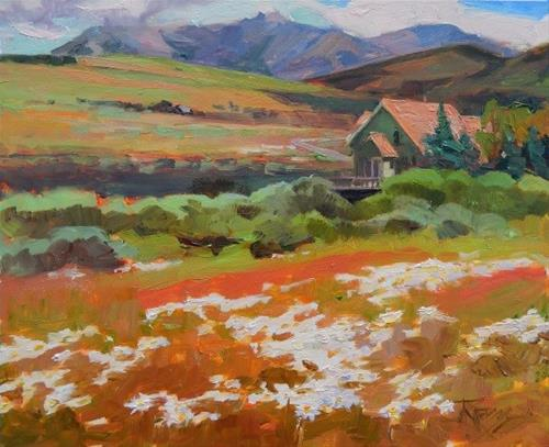 """Crested Butte Homestead plein air landscape, oil painting by Robin Weiss"" original fine art by Robin Weiss"