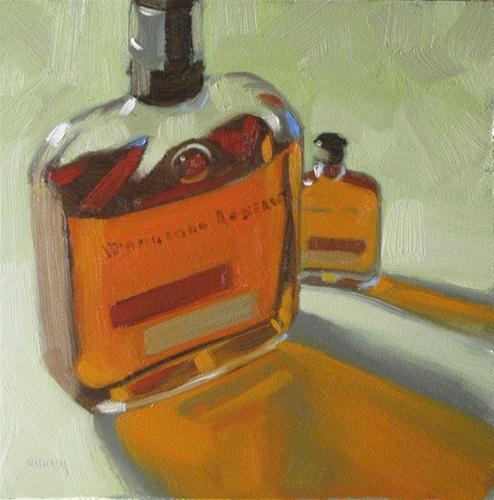 """Woodford Reserve large and small 6x6 oil"" original fine art by Claudia Hammer"