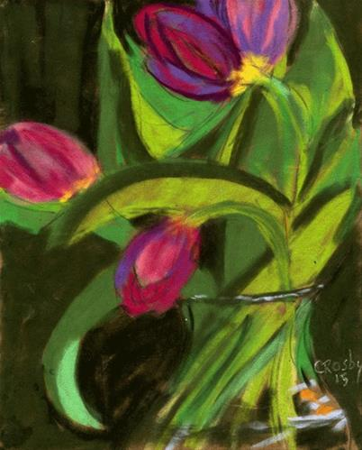 """The Music of Flowers"" original fine art by Donna Crosby"