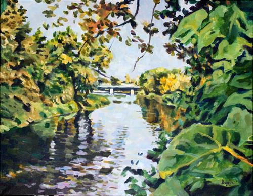 """The Bridge"" original fine art by Elbagir Osman"