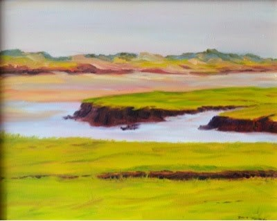 """Cape Marsh 4"" original fine art by Debra Kennedy"