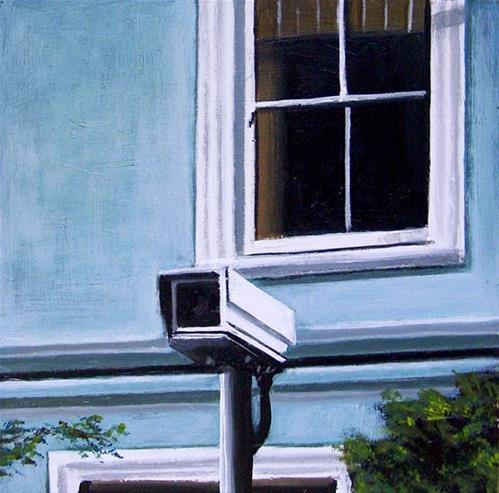 """Security Camera 26- Still Life Painting Of CCTV Surveillance Camera"" original fine art by Gerard Boersma"