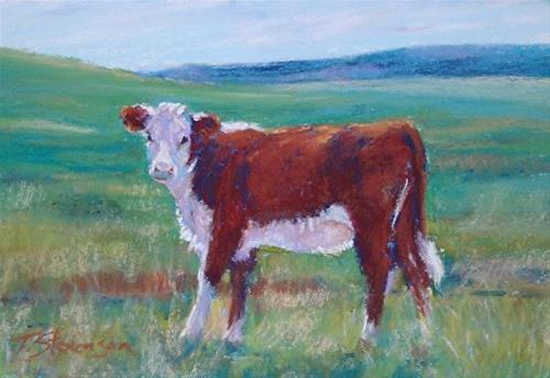 """Hereford Calf"" original fine art by Trish Stevenson"