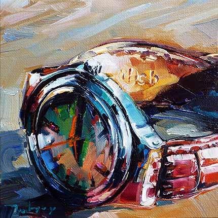 """""""Die Uhr"""" original fine art by Jurij Frey"""