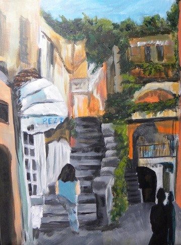 """Sorrento"" original fine art by cheryl buhrman"