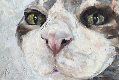 """Cattie"" original fine art by Gigi ."