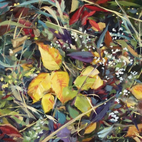 """Oil painting of Autumn Markweed"" original fine art by Deb Anderson"