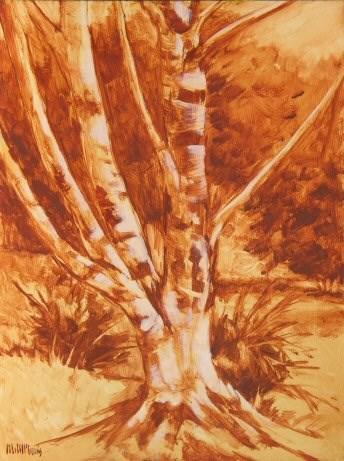 """Paper Birch"" original fine art by Mary McInnis"