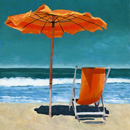 """""""Ready for Summer beach painting"""" original fine art by Ria Hills"""
