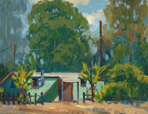 """WPA housing"" original fine art by J. Thomas soltesz"