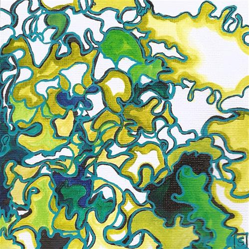 """6048 - Curly Lettuce"" original fine art by Sea Dean"