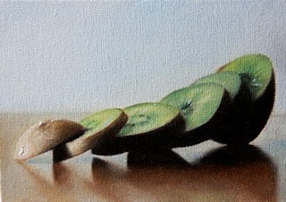 """Kiwi"" original fine art by Jonathan Aller"