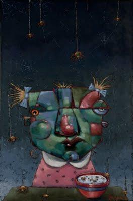 """Little Miss M. Makes Peace With The Arachnid Nation"" original fine art by Brenda York"