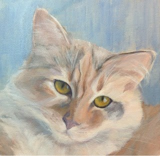 """Lindsey's Cats - Taffy"" original fine art by Lyn Gill"