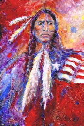 """Blackfeet Warrior"" original fine art by Barbara Lemley"