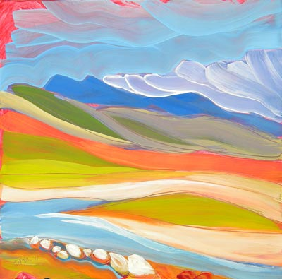 """Canyon Dreams 29"" original fine art by Pam Van Londen"