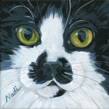 """Cat Eyes 8"" original fine art by Nadi Spencer"