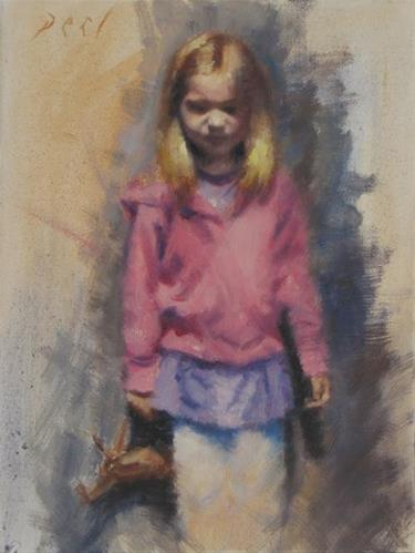 """Ella's companion"" original fine art by Daniel Peci"