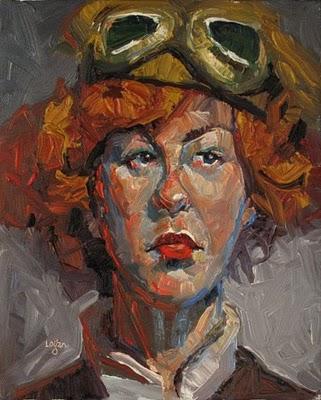 """Aviatrix"" original fine art by Raymond Logan"