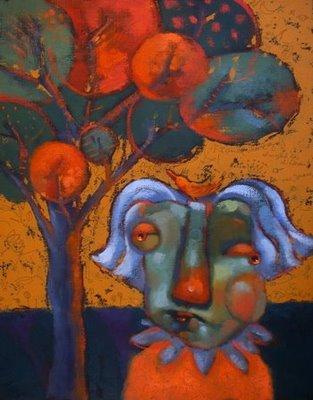 """Crybaby Mama"" original fine art by Brenda York"