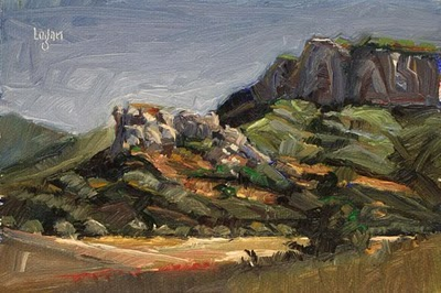 """Carpenter Canyon Rocks"" original fine art by Raymond Logan"