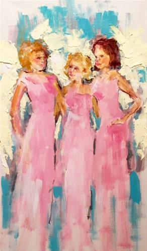 """Angel Friends"" original fine art by Marcia Hodges"