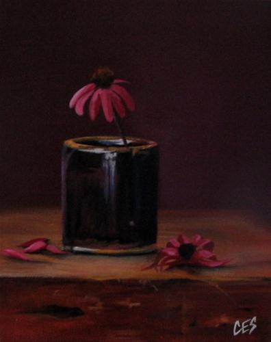 """Echinacea Vanitas"" original fine art by ~ces~ Christine E. S. Code"