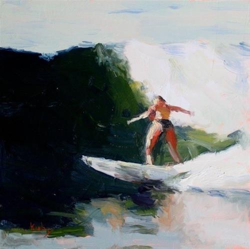 """Bottom Turn"" original fine art by Randall Cogburn"