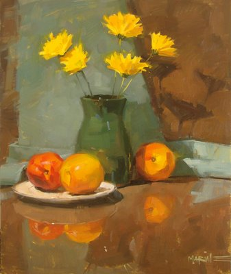 """Nectarine-y"" original fine art by Carol Marine"