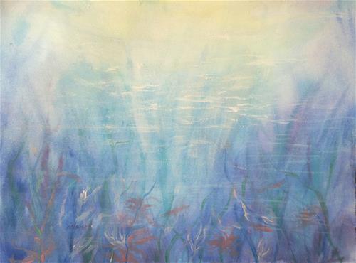 """Underwater"" original fine art by Becky Chappell"