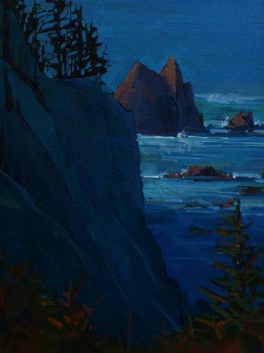 """""""Oregon Coastline"""" original fine art by Brian Buckrell"""
