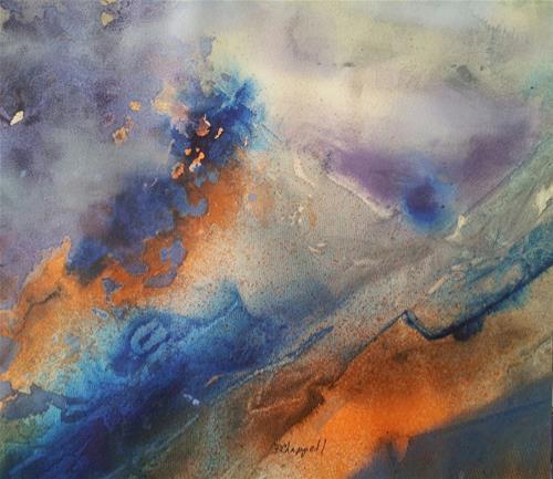 """""""Alien Terrain"""" original fine art by Becky Chappell"""
