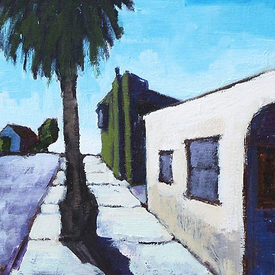 """Outside the Laundromat, San Diego"" original fine art by Kevin Inman"