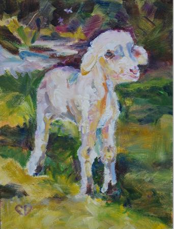 """""""Baah"""" original fine art by Carol DeMumbrum"""