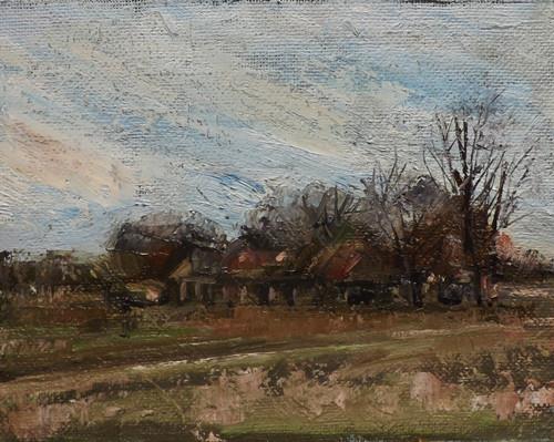 """Landscape,f24"" original fine art by Run-      Zhang Zane"