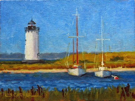 """""""'Edgartown Light' An Original Oil Painting by Claire Beadon Carnell 30 Paintings in 30 Days Challeng"""" original fine art by Claire Beadon Carnell"""