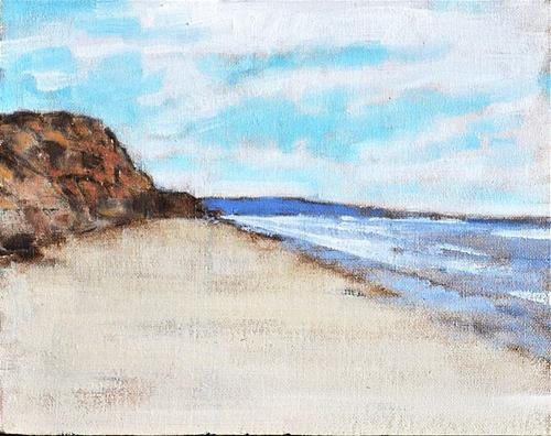 """Blacks Beach Bluffs"" original fine art by Kevin Inman"