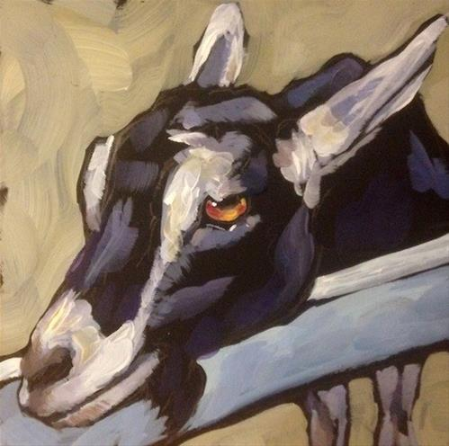 """Krusty Old Goat"" original fine art by Kat Corrigan"