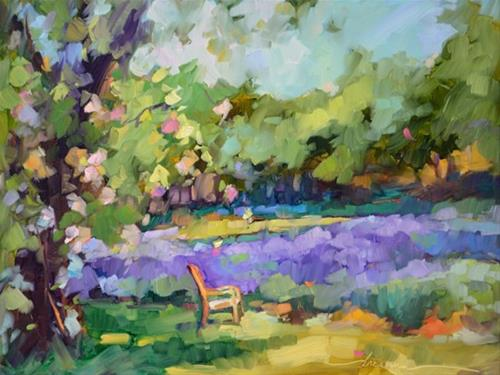 """Lavender Moments"" original fine art by Dreama Tolle Perry"