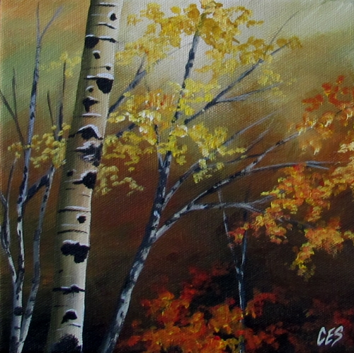 """Changing Seasons"" original fine art by ~ces~ Christine E. S. Code"