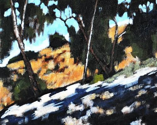 """Eucalyptus Grove, San Diego"" original fine art by Kevin Inman"