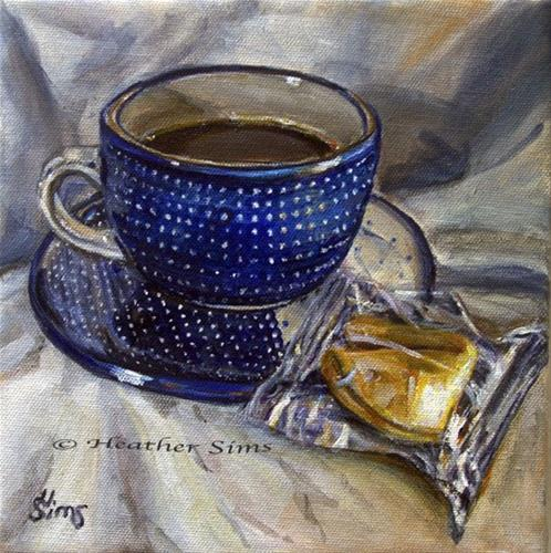 """Fortune Cookie: Polish Pottery LIII"" original fine art by Heather Sims"