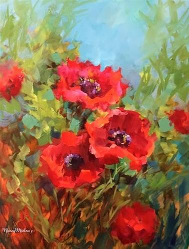 """Mountain Song Poppies by Floral Artist Nancy Medina"" original fine art by Nancy Medina"